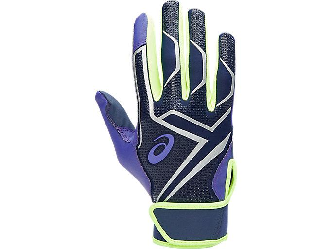 Alternative image view of カラーバッティング手袋, パープル/ネイビー