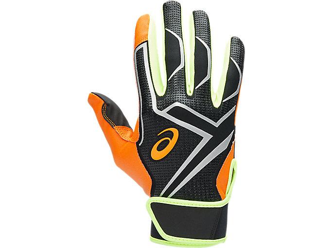 Alternative image view of カラーバッティング手袋, オレンジ/ブラック