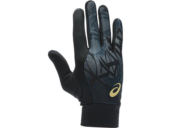Alternative image view of ウォームアップ手袋, ブラック/ブラック