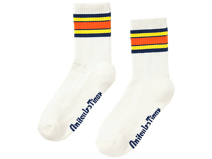 Alternative image view of LANGE SOCKEN, REAL WHITE/TAI-CHI YELLOW