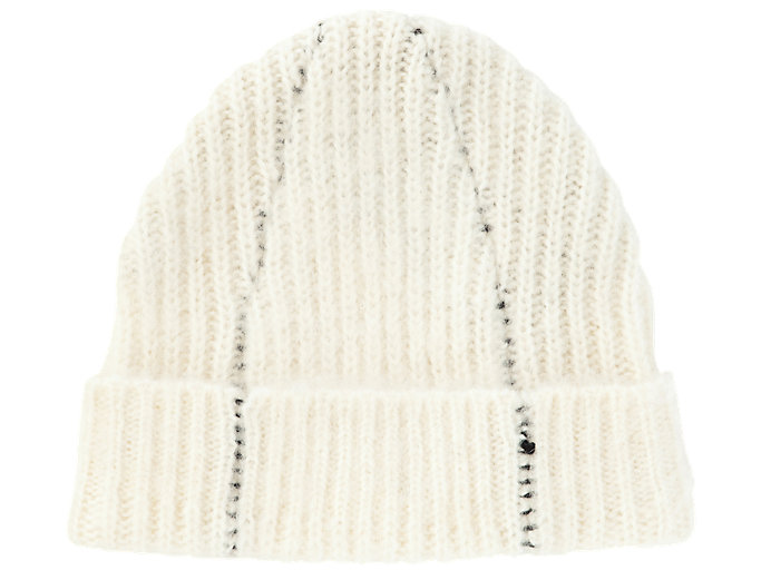 Alternative image view of BEANIE, REAL WHITE
