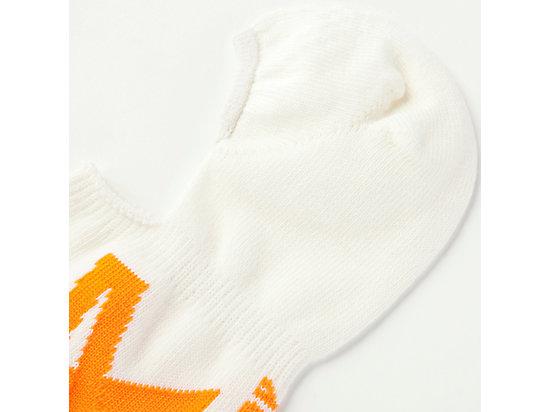 LOGO隱形襪 WHITE/ORANGE