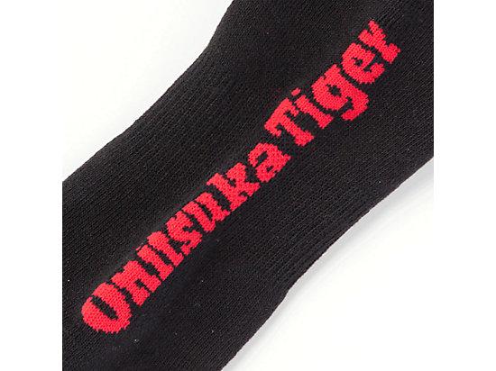 文字中筒襪 BLACK/RED