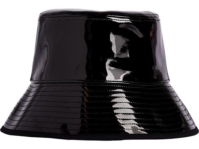 Alternative image view of ENAMEL PLAIN HAT, Performance Black
