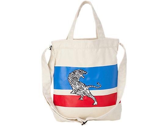 CANVAS SHOULDER BAG OFF WHITE/BLUE
