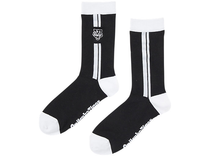 Alternative image view of CHAUSSETTES MOYENNES, Performance Black/Real White