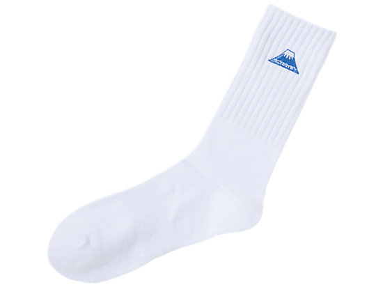 MIDDLE SOCKS WHITE/PALE BLUE