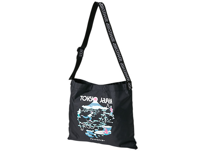 Front Top view of SPORTS MOMENT TOTE, PERFORMANCE BLACK/PINK