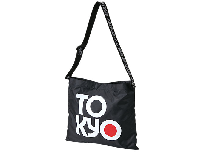 Front Top view of SPORTS MOMENT TOTE, PERFORMANCE BLACK/WHITE