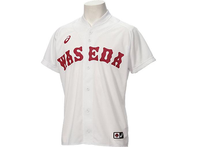 Alternative image view of 早稲田 ベースボールレプリカユニフォームシャツ, ホワイト