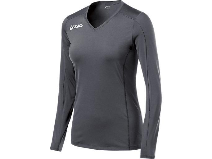 Women's Roll Shot Performance Jersey | Steel Grey | Long Sleeve ...