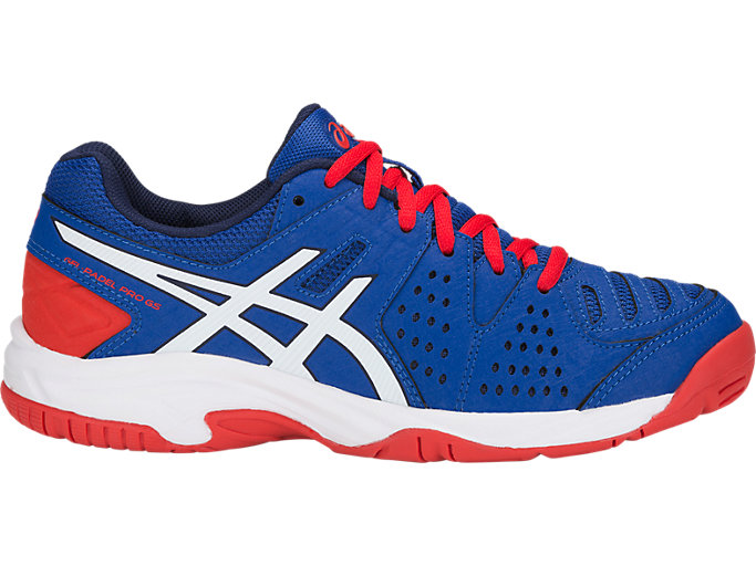 Right side view of GEL-PADEL PRO 3 GS, ASICS BLUE/WHITE