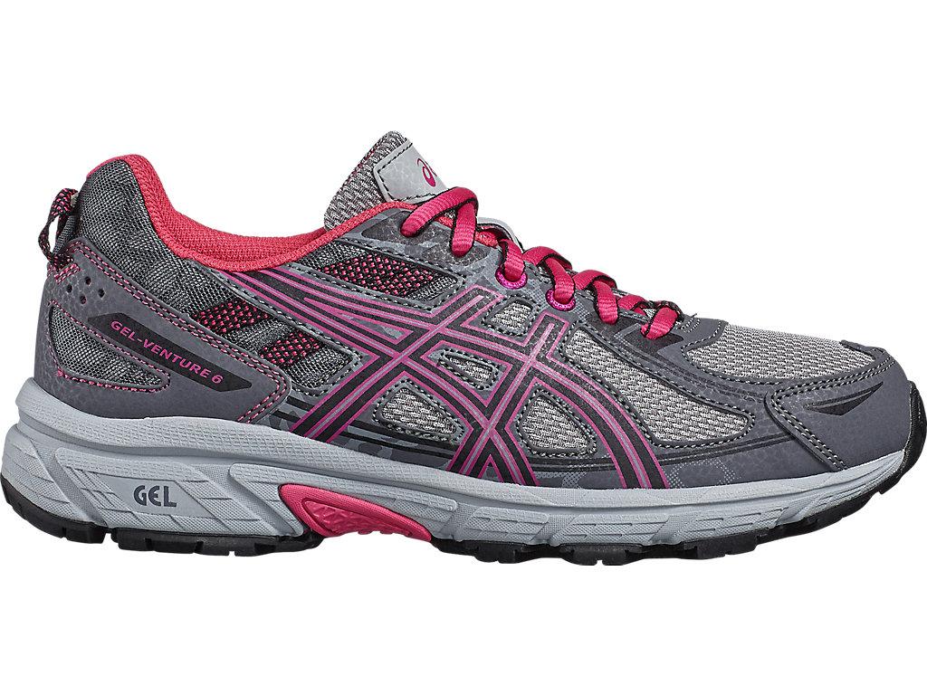 Unisex GEL-Venture 6 GS   Carbon/Black/Sport Pink - ASICS