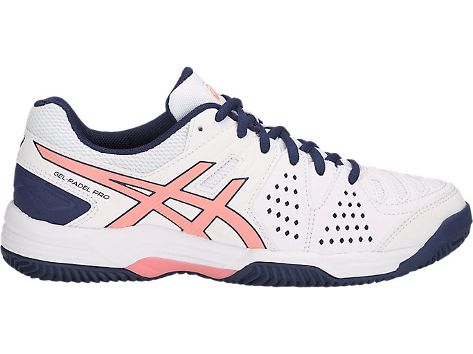 Alternative image view of GEL-PADEL PRO 3 SG, WHITE/GRAPEFRUIT