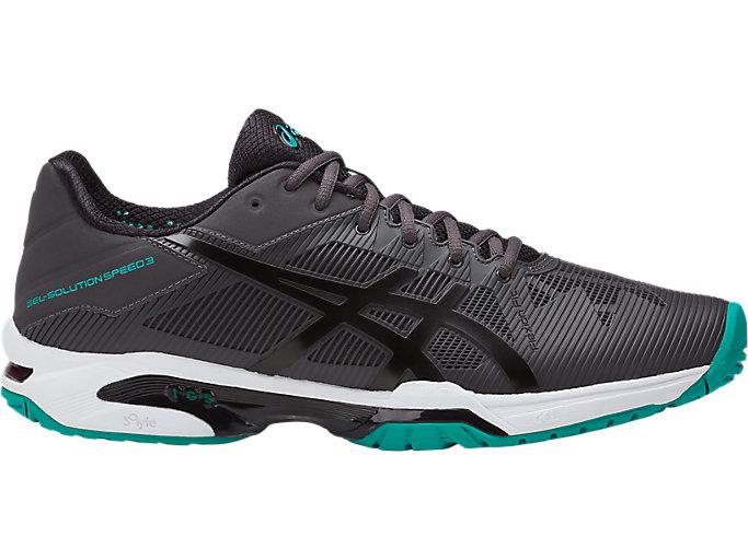 Men's GEL-Solution Speed 3   Dark Grey/Black/Lapis   Tennis   ASICS