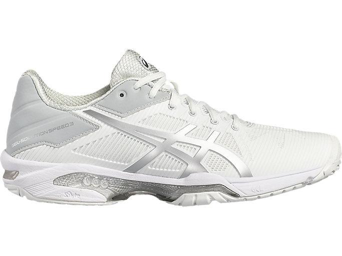 Women's GEL-Solution Speed 3   White/Silver   Tennis   ASICS