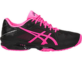 Women's GEL-Solution Speed 3 | Black/Hot Pink/Silver ...