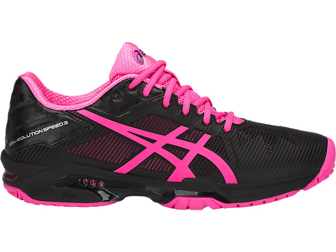 Escoba Tender distorsión  Women's GEL-Solution Speed 3 | Black/Hot Pink/Silver | Tennis | ASICS