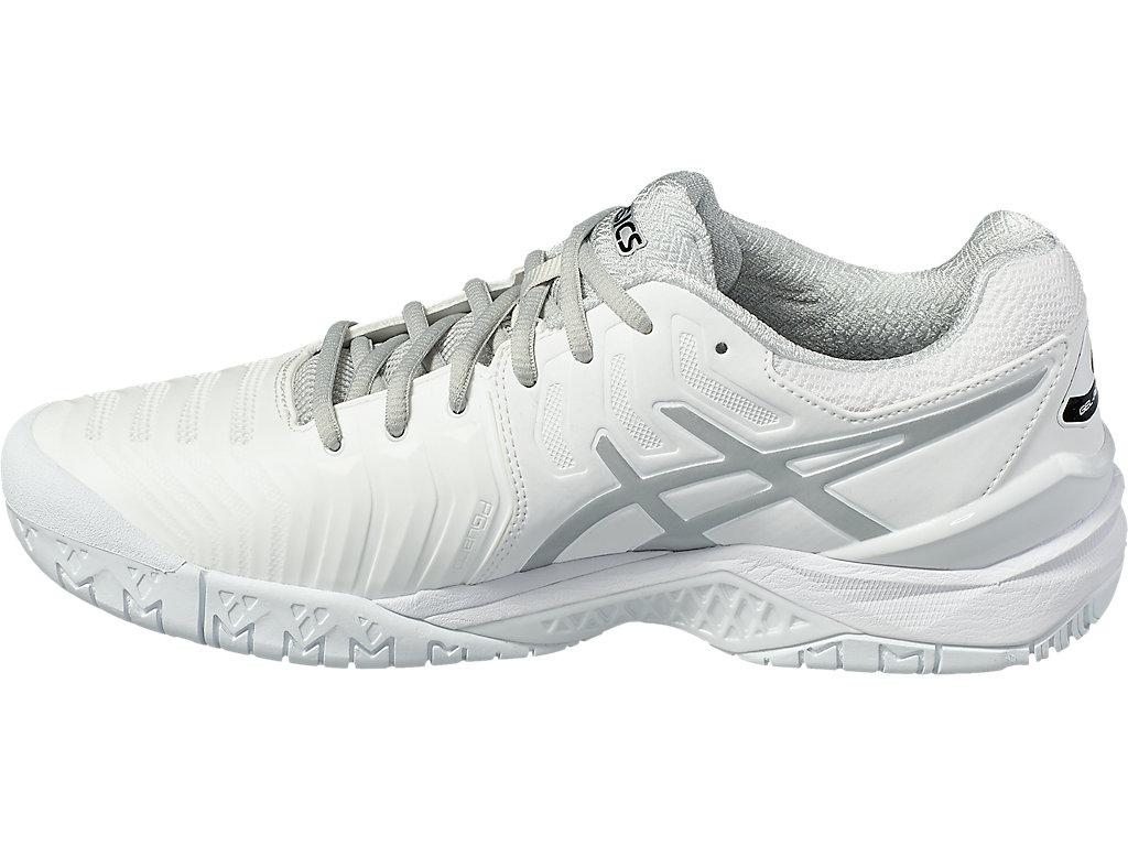 Men's GEL-RESOLUTION 7   White/Silver   Tennis   ASICS