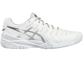 ASICS Gel - Resolution 7 White / Silver Hombre