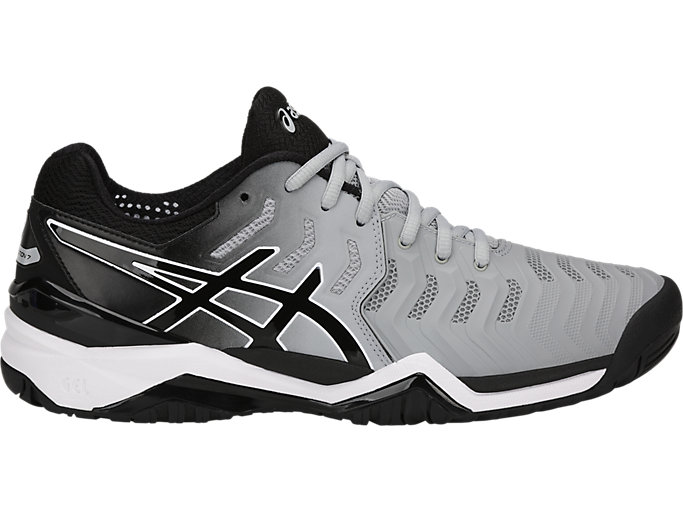 Right side view of GEL-RESOLUTION 7, MID GREY/BLACK/WHITE