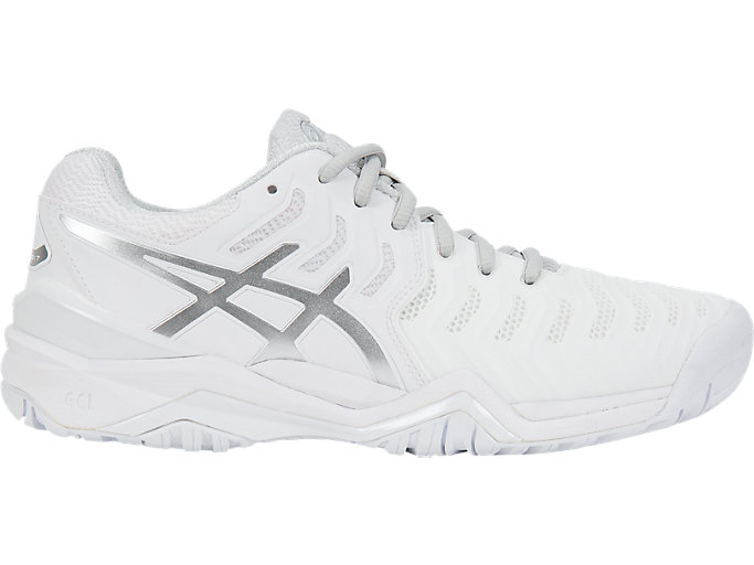 Women's GEL-RESOLUTION 7 | WHITE/SILVER | Tennis | ASICS Outlet