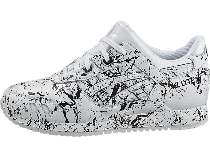Left side view of GEL-LYTE III, WHITE/WHITE
