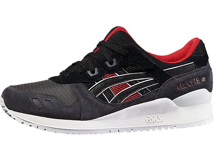 Front Right view of GEL-LYTE III, BLACK/BLACK