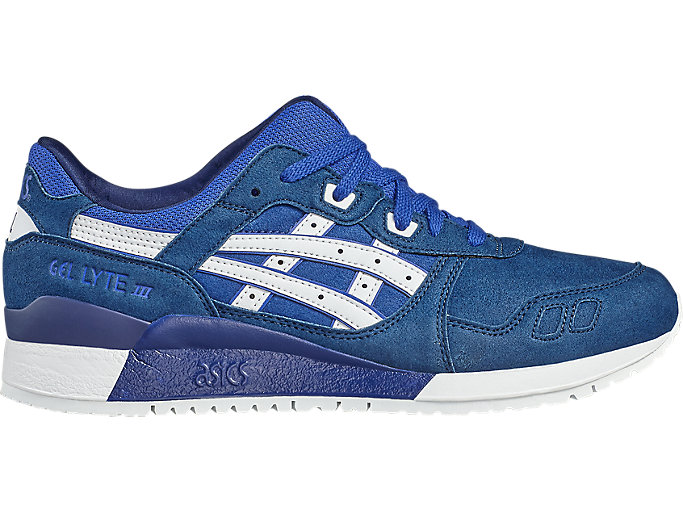 Right side view of GEL-LYTE III, ASICS BLUE/WHITE
