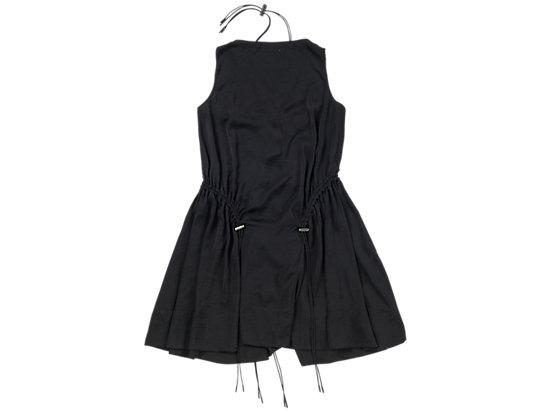 女式抽绳连衣裙 黑色