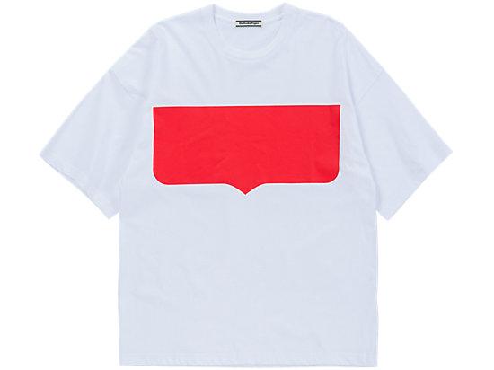 印花短袖 白色/红色