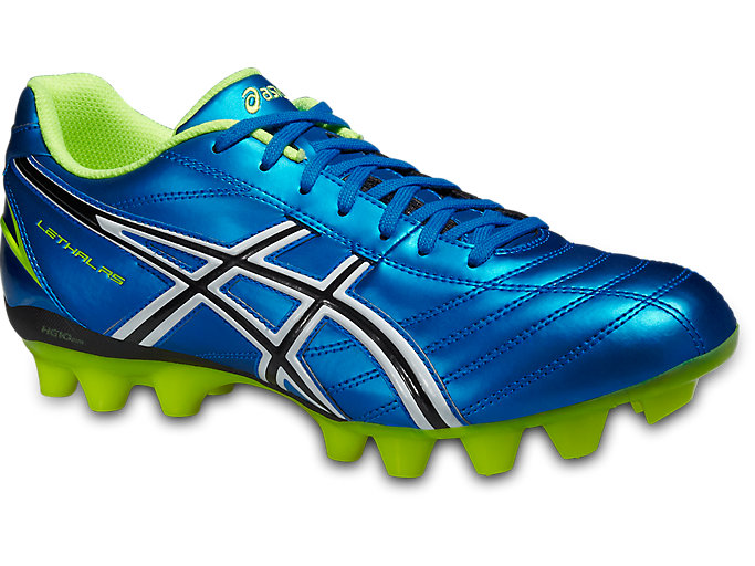 Front Right view of LETHAL RS, ELECTRIC BLUE/WHITE/FLASH YELLOW