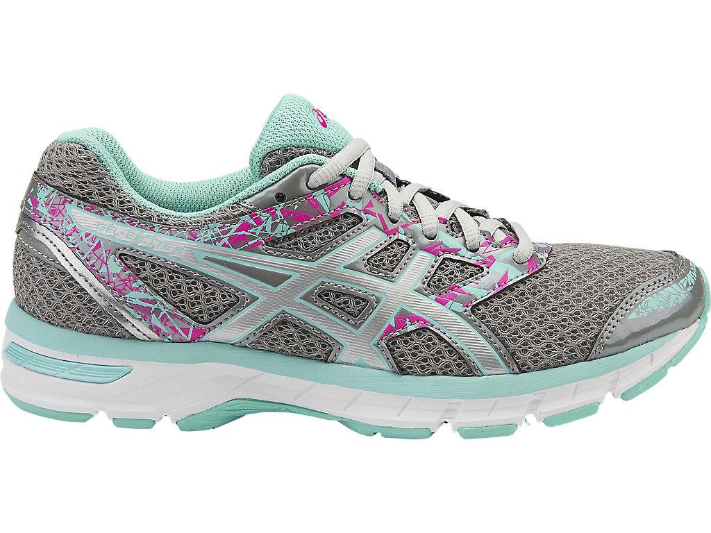 Women's GEL-Excite 4 | Aluminum/Silver/Aqua Splash | Running Shoes ...