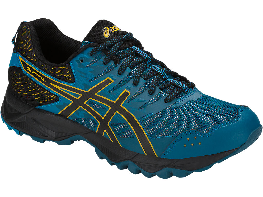 Men's GEL-Sonoma 3   Ink Blue/Black/Lemon Curry   Trail Running ...