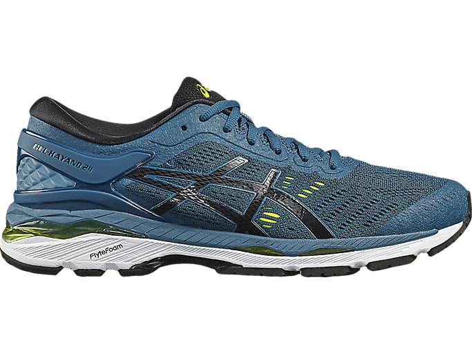 Alternative image view of GEL-KAYANO 24, INK BLUE/BLACK/SAFETY YELLOW