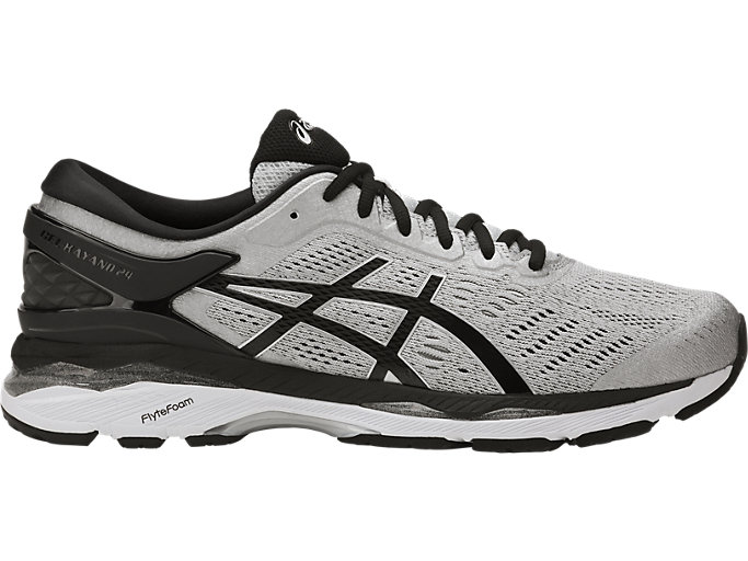 Men's GEL-KAYANO 24 | SILVER/BLACK/MID GREY | Running ...