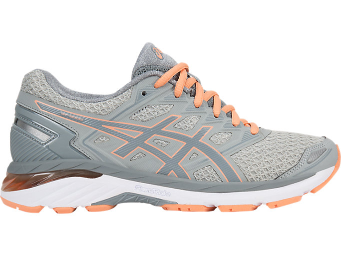 Women's GT-3000 5 | MID GREY/STONE GREY/CANTELOUPE | Running ...