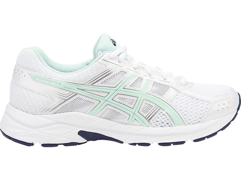 Women's GEL-Contend 4 | White/Bay/Silver | Running Shoes | ASICS