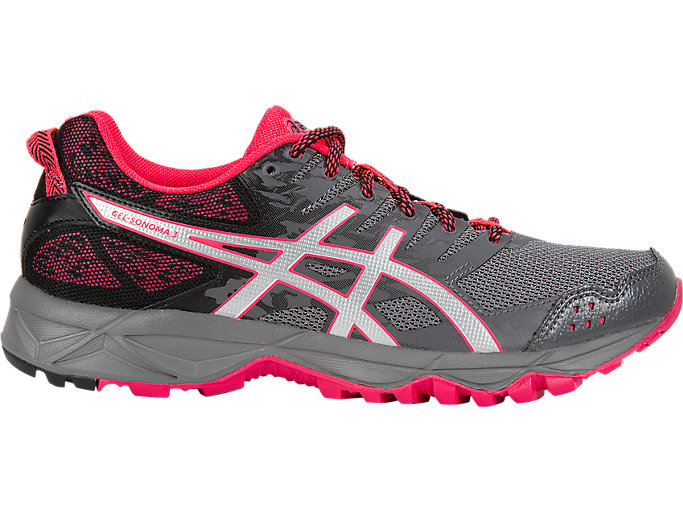 Women's GEL-Sonoma 3 | Carbon/Silver/Diva Pink | Trail Running | ASICS