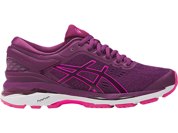 Women's GEL-KAYANO 24 | PRUNE/PINK GLOW/WHITE | Running ...