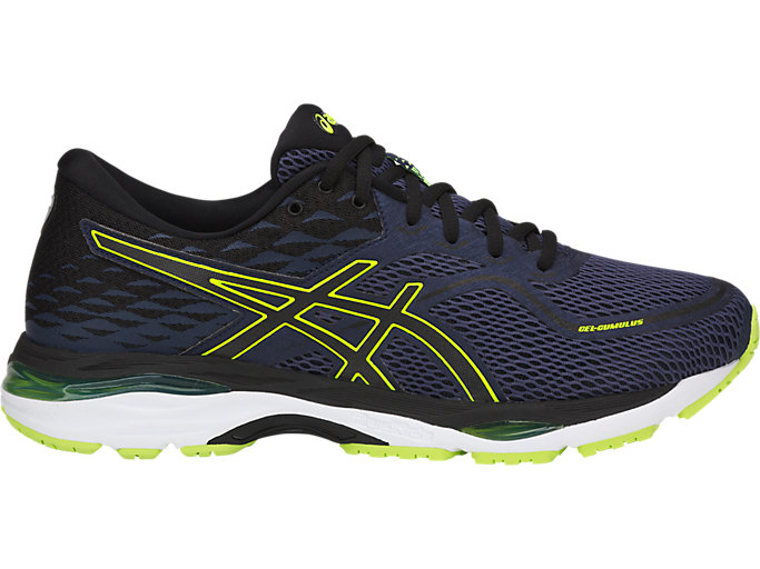 Men's GEL-CUMULUS 19 | INDIGO BLUE/BLACK/SAFETY YELLO ...