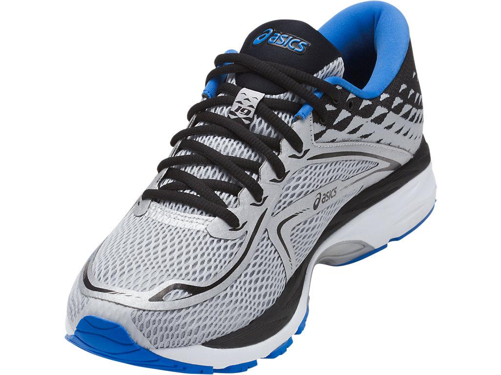 Men's GEL-Cumulus 19   Grey/Black/Directoire Blue   Running Shoes ...