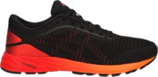 orange asics running shoes