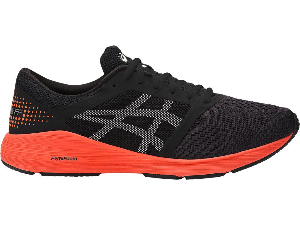 Men's Roadhawk FF   Black/Hot Orange/White   Running Shoes   ASICS
