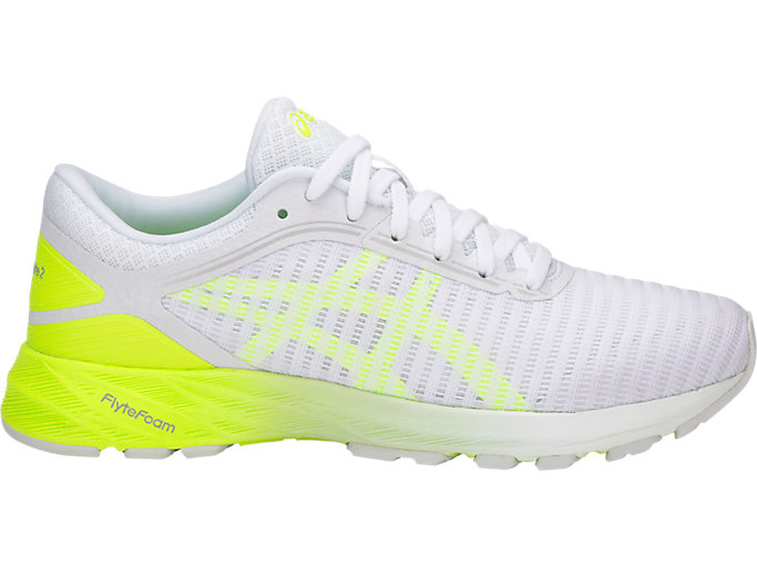 Women's DynaFlyte 2 | White/Safety Yellow/Aruba Blue | Running ...