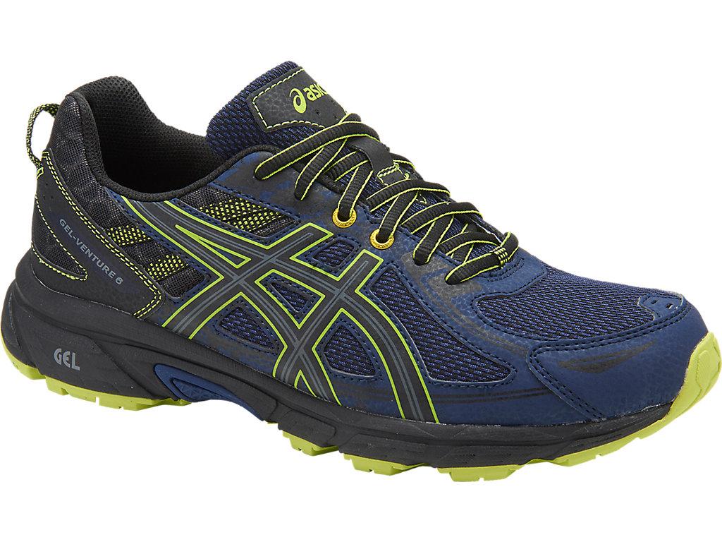 Men's GEL-Venture 6   Indigo Blue/Black/Energy Green   Trail ...