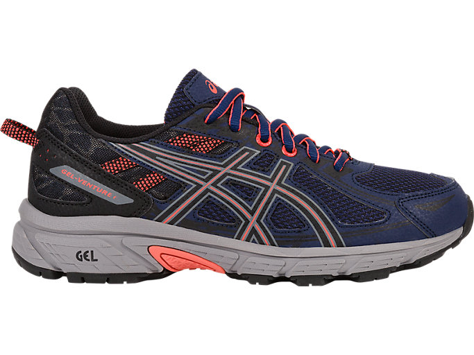 Women's GEL-Venture 6 | Indigo Blue/Black/Coral | Trail Running ...