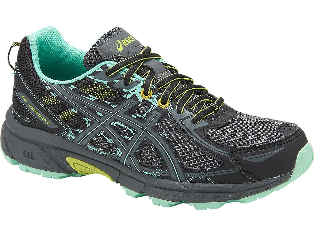 Women's GEL-Venture 6 | Black/Carbon/Green | Trail Running | ASICS