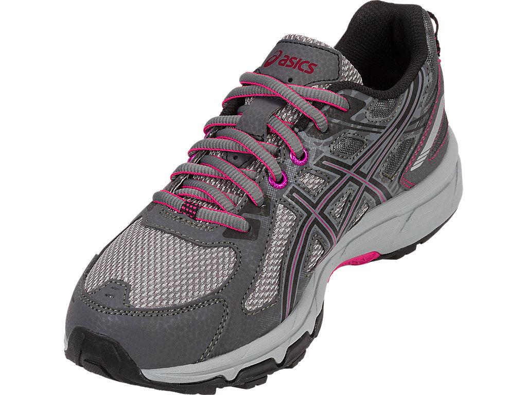 Women's GEL-Venture 6   Carbon/Black/Pink Peacock   Trail Running ...