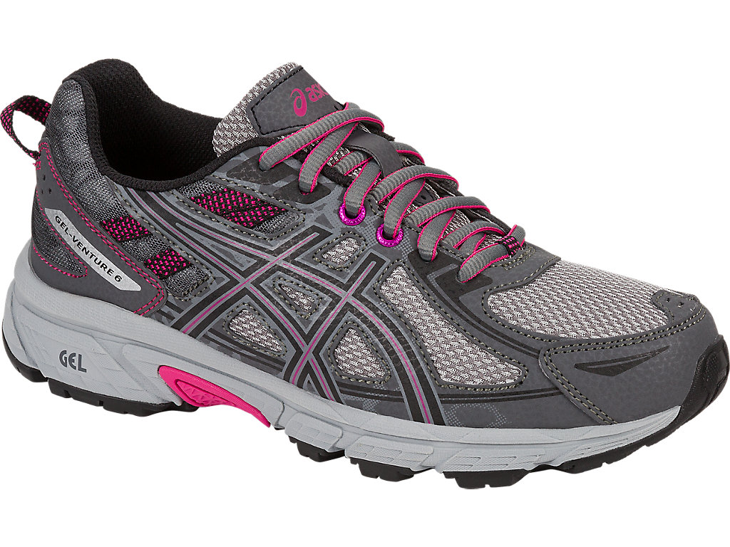 Women's GEL-Venture 6 | Carbon/Black/Pink Peacock | Trail Running ...